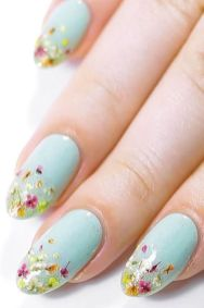 50 Floral Nail Art for Summer and Spring Ideas 43