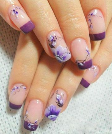 50 Floral Nail Art for Summer and Spring Ideas 46