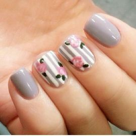 50 Floral Nail Art for Summer and Spring Ideas 48