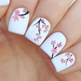 50 Floral Nail Art for Summer and Spring Ideas 51