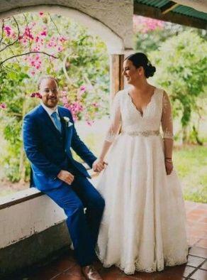 50 V Neck Bridal Dresses for Plus Size Ideas 10