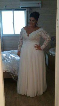 50 V Neck Bridal Dresses for Plus Size Ideas 11