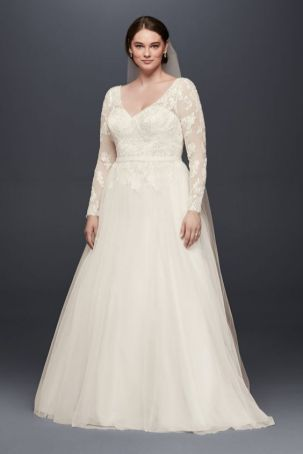 50 V Neck Bridal Dresses for Plus Size Ideas 18