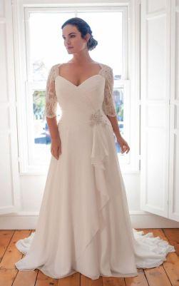 50 V Neck Bridal Dresses for Plus Size Ideas 32