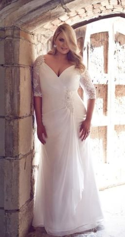 50 V Neck Bridal Dresses for Plus Size Ideas 42