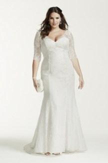 50 V Neck Bridal Dresses for Plus Size Ideas 49
