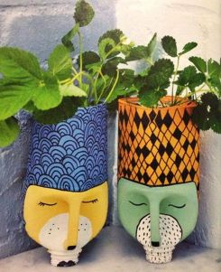 50 Ways to Reuse Plastic Bottles to Cute Planters Ideas 11