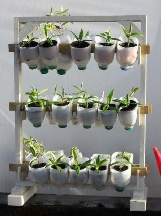 50 Ways to Reuse Plastic Bottles to Cute Planters Ideas 15
