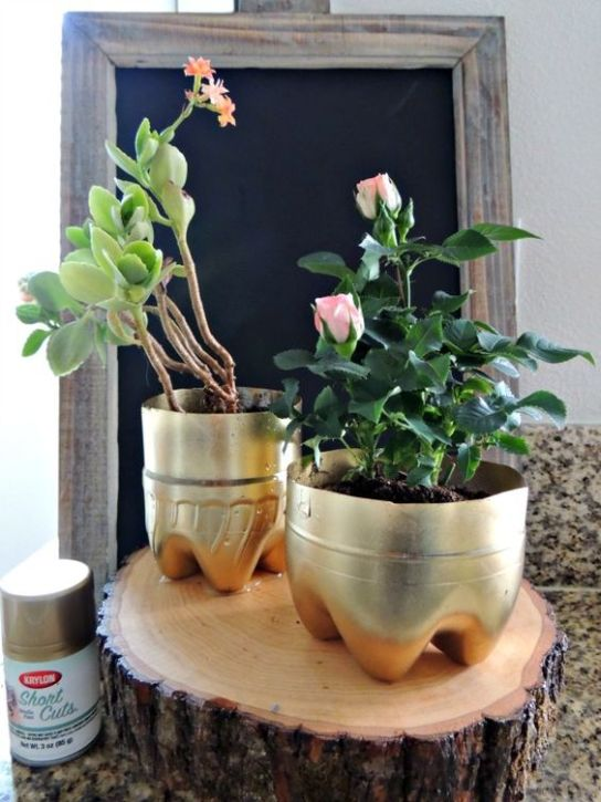 50 Ways to Reuse Plastic Bottles to Cute Planters Ideas 50