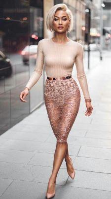 50 Ways to Wear Gold Belts Ideas 12