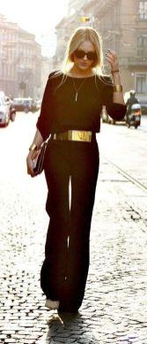 50 Ways to Wear Gold Belts Ideas 5