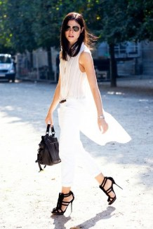 50 Ways to Wear White Sleeveless Top Ideas 2