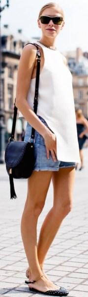 50 Ways to Wear White Sleeveless Top Ideas 45