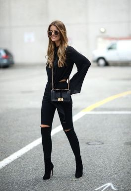60 Spring and Summer All Black Outfits Ideas 12