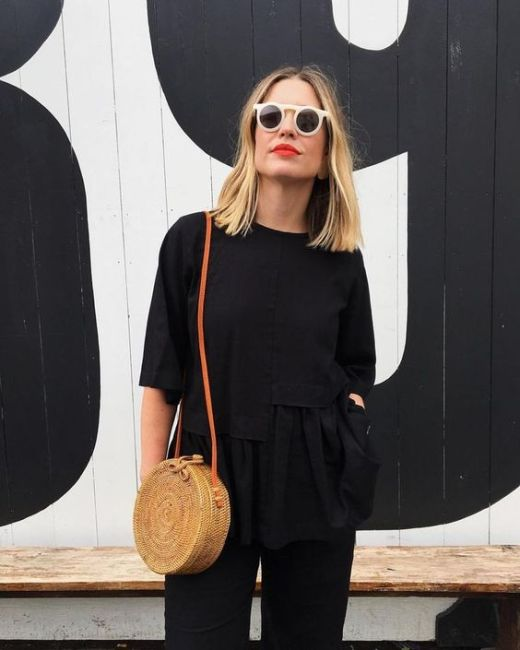 60 Spring and Summer All Black Outfits Ideas 16
