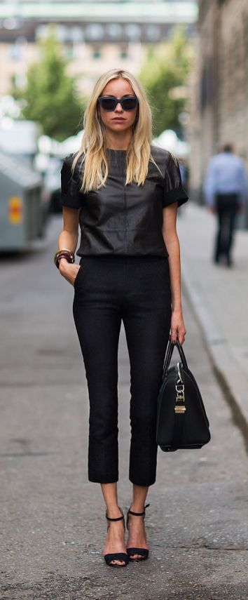 60 Spring and Summer All Black Outfits Ideas 20