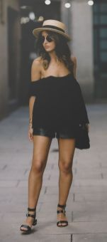 60 Spring and Summer All Black Outfits Ideas 25