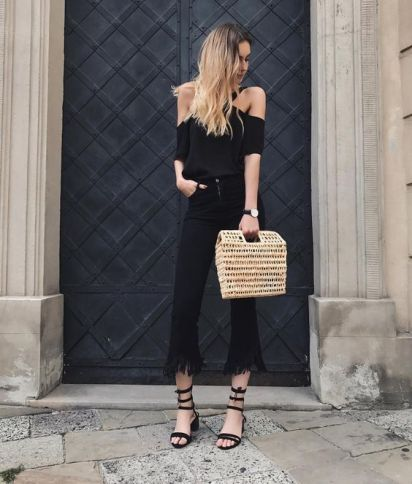 60 Spring and Summer All Black Outfits Ideas 36