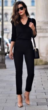60 Spring and Summer All Black Outfits Ideas 37