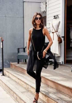 60 Spring and Summer All Black Outfits Ideas 40