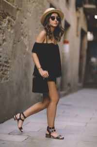 60 Spring and Summer All Black Outfits Ideas 46