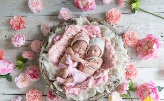 100 Cute Twins New Born Photography You Can Copy 7