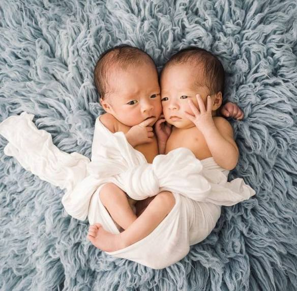 100 Cute Twins New Born Photography You Can Copy 83