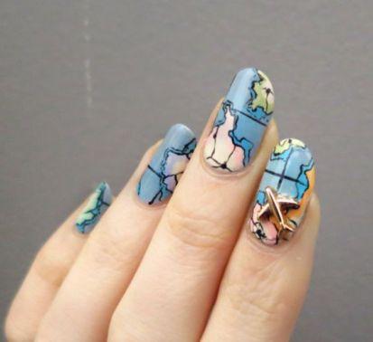 30 Earth Day Nails Art Ideas 2 2