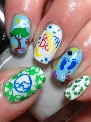 30 Earth Day Nails Art Ideas 21 2