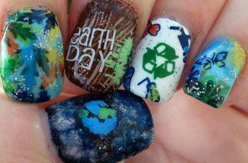 30 Earth Day Nails Art Ideas 24 1