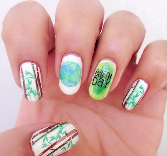 30 Earth Day Nails Art Ideas 38 2