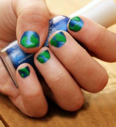 30 Earth Day Nails Art Ideas 5