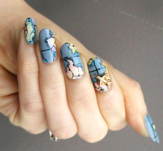 30 Earth Day Nails Art Ideas 9 1