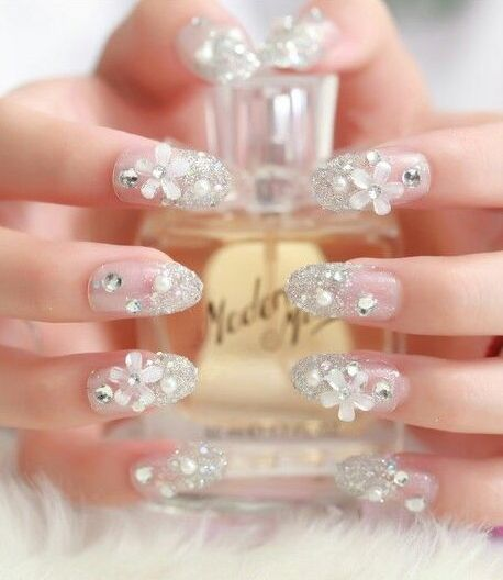 30 Glam Wedding Nail Art for Bride Ideas 1