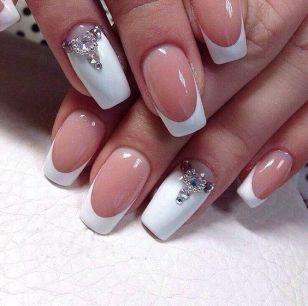 30 Glam Wedding Nail Art for Bride Ideas 13