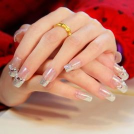 30 Glam Wedding Nail Art for Bride Ideas 16