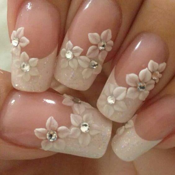 30 Glam Wedding Nail Art for Bride Ideas 17