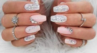 30 Glam Wedding Nail Art for Bride Ideas 2