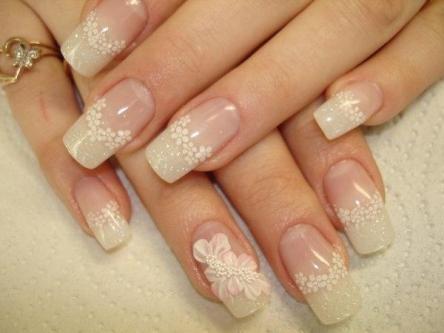 30 Glam Wedding Nail Art for Bride Ideas 20