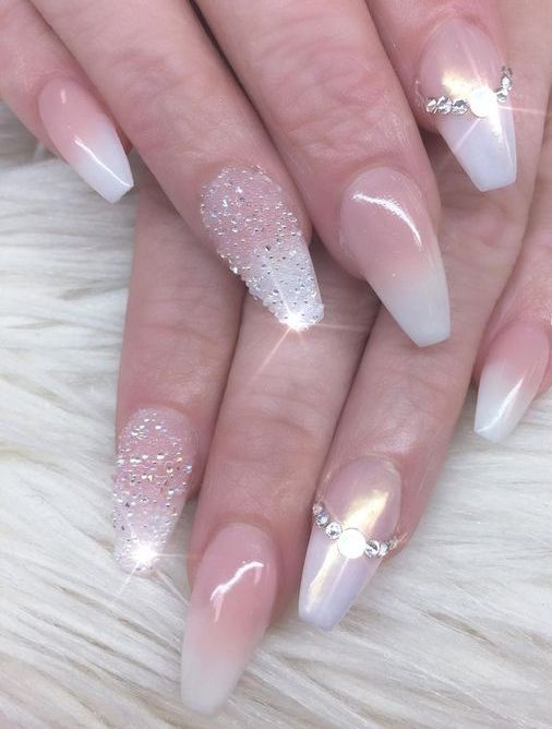 30 Glam Wedding Nail Art for Bride Ideas 24