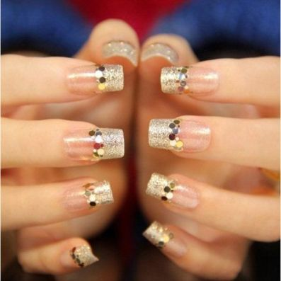 30 Glam Wedding Nail Art for Bride Ideas 26
