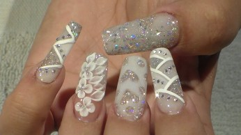 30 Glam Wedding Nail Art for Bride Ideas 29