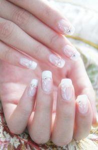 30 Glam Wedding Nail Art for Bride Ideas 7