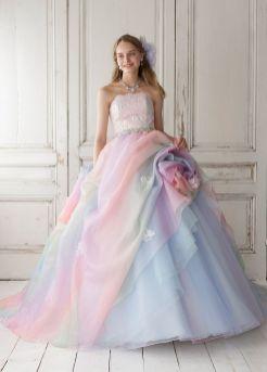 30 Soft Color Look Bridal Dresses Ideas 15