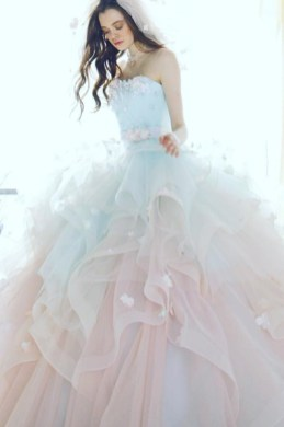 30 Soft Color Look Bridal Dresses Ideas 16