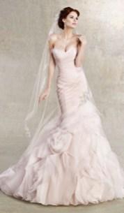 30 Soft Color Look Bridal Dresses Ideas 31