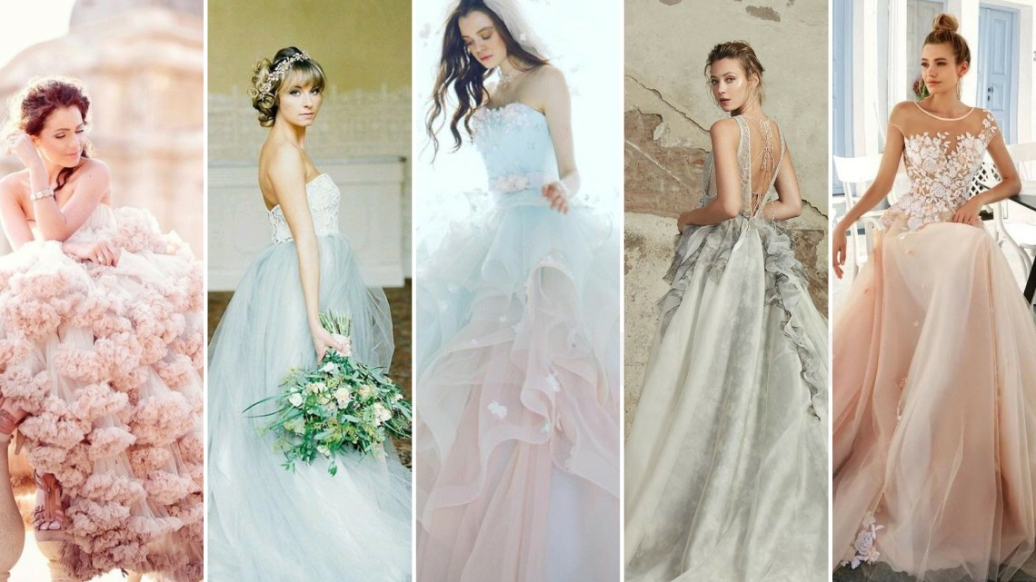 30 Soft Color Look Bridal Dresses Ideas