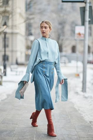 40 All Blue Outfits Street Styles Ideas 5