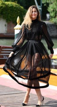 40 Black Mesh Long Dresses Ideas 10