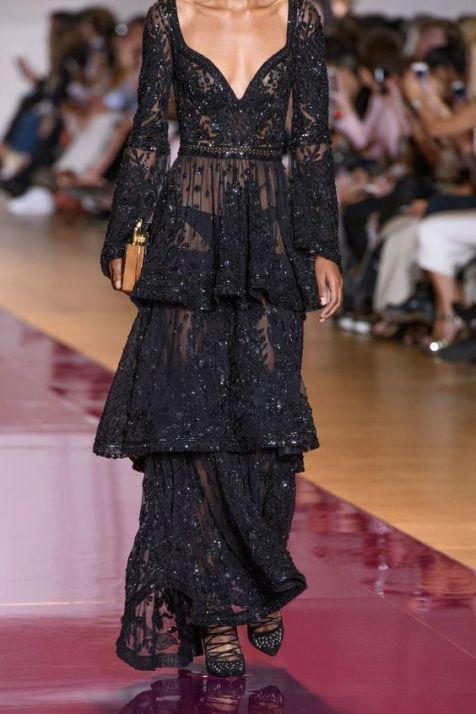 40 Black Mesh Long Dresses Ideas 11